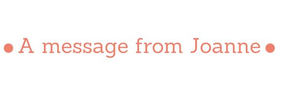 blog message joanne
