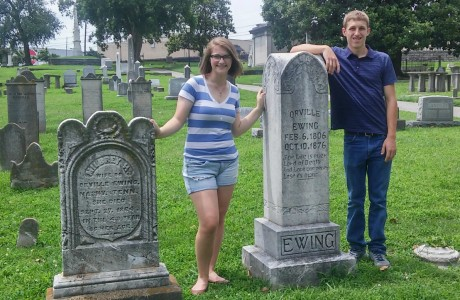 The Kids with their 4X Great-Grandparents Orville &Milbrey Ewing