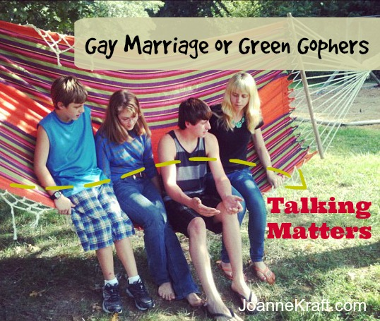 gay marriage or green gophers JoanneKraft.com