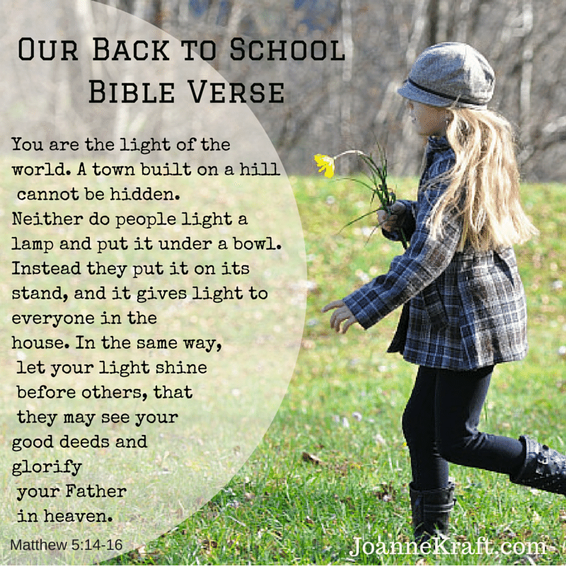 Our Back to School Bible Verse