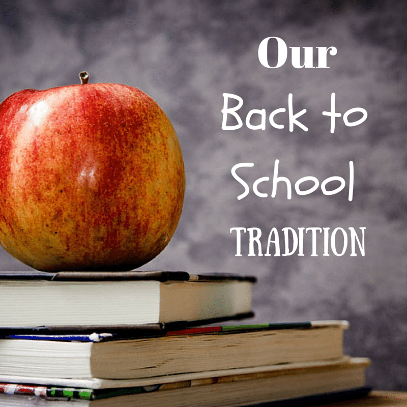 Our back to school tradition. JoanneKraft.com