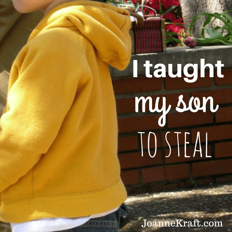 I Taught My Son To Steal JoanneKraft.com