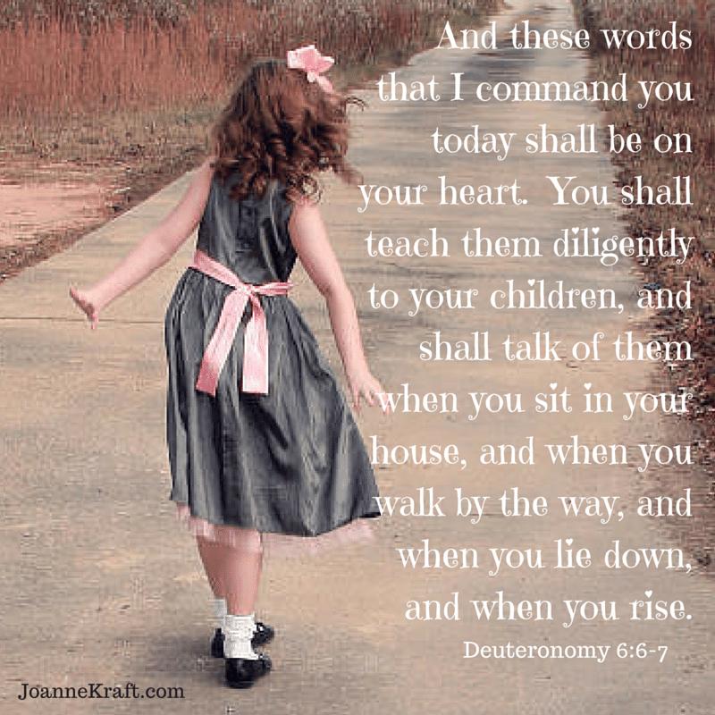 walk deuteronomy 6 kids children teach bible