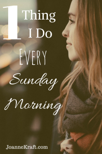 The One Thing I Do Every Sunday Morning – 30 Days of Fall Devotions